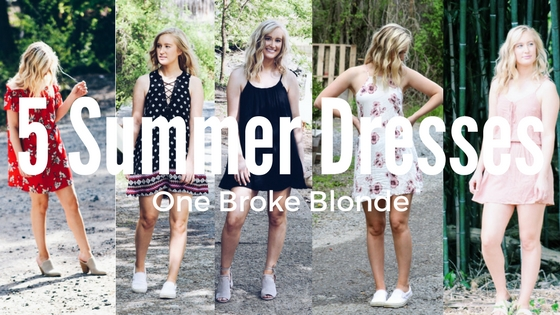 5 Dresses To Spice Up Your Spring/Summer!